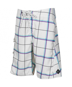 FOX LLOYT PLAID BOARDSHORT white